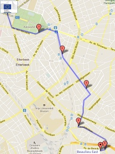 Suggested route - Schuman to Beaulieu East