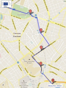 Suggested route - Schuman to Beaulieu West